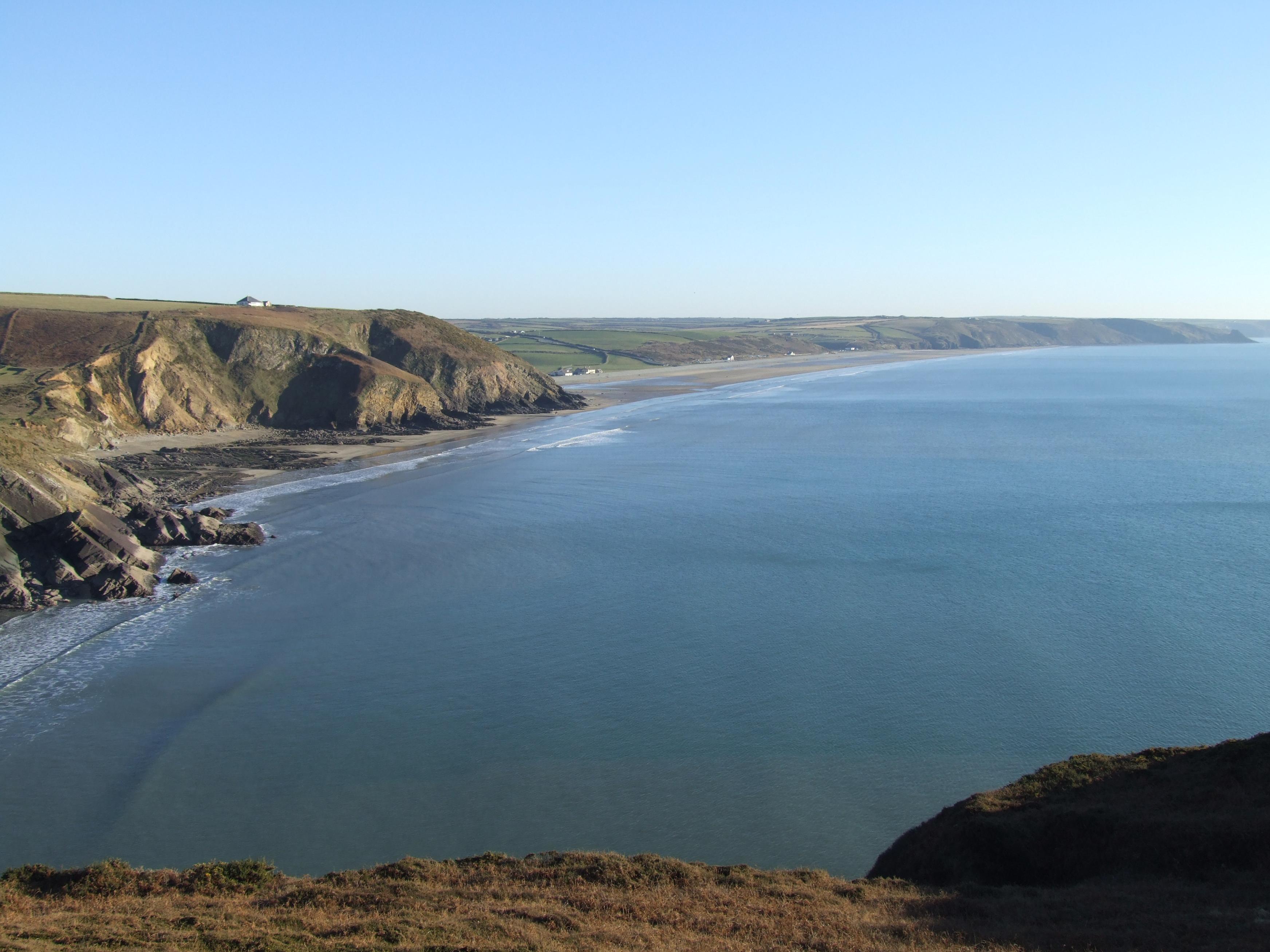 Newgale beach on the Pembrokeshire Coastal Path